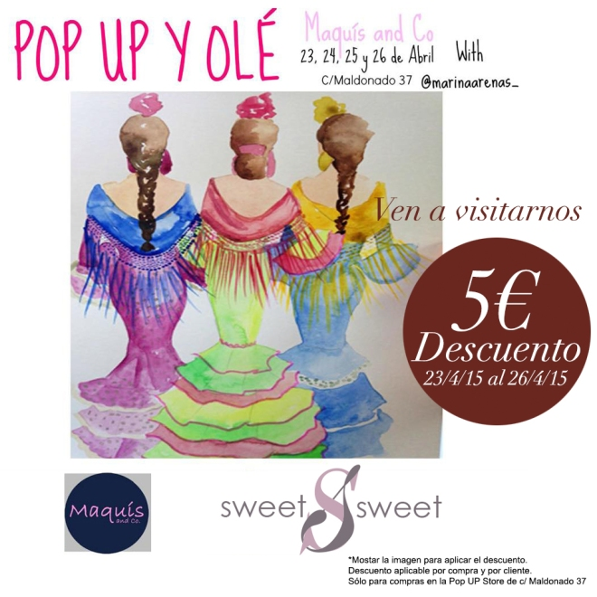 SweetSweet en Pop up y olé